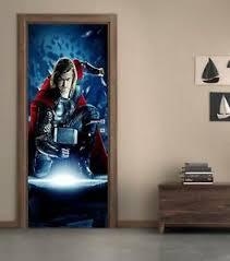 Thor The Avengers Marvel 3d Door Wrap Decal Wall Sticker Decor Mural Art D257 Ebay