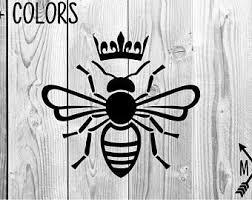Queen Bee Decal Etsy