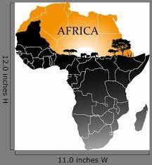 Continent Africa Wall Decal Wallmonkeys Com