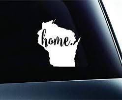 Amazon Com 3 Home Wisconsin State Madison Symbol Sticker Decal Car Truck Window Computer Laptop White Automotive