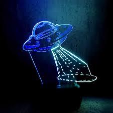 Mới 3D Đèn UFO Tàu Vũ Trụ Tàu Vũ Trụ Phối Màu Đèn LED Nhiều Màu Đèn Ngủ Trẻ  Em Đồ Chơi Bàn Cảm Ứng Lampara Sáng Tạo Sinh Nhật Thoáng Mát|