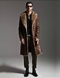 rabbit fur coat mens leather jacket