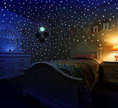 Glow In The Dark Stars Moon Stickers For Kids Bedroom Walls Ceiling Of Starry Night Sky 447 Adhesive De Kids Bedroom Walls Blush Bedroom Decor Kids Bedroom