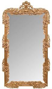 wall mirror gold 122 x h 224 cm