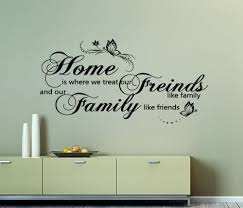 Home Friends Family Wall Decal Sticker By Ey Decals