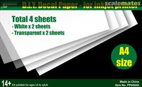 Decal Paper For Inkjet Printer J S Work Ppa6042