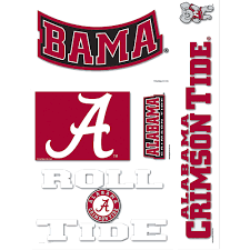 Alabama Crimson Tide Decals 5ct Party City