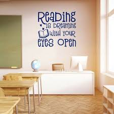 School Wall Sticker Reading Is Dreaming Classroom Playroom Vinyl Wall Art Decal Ebay Decal Wall Art Vinyl Wall Vinyl Wall Art Decals