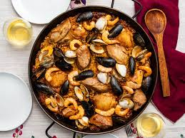 Grilled Paella Mixta (Mixed Paella With ...
