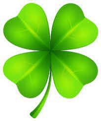 Lucky 4 Leaf Clover Sticker