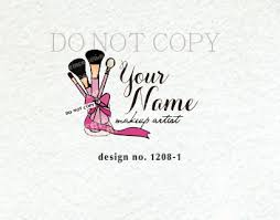 makeup brush logo design
