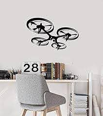 Amazon Com Quadcopter Vinyl Wall Decal Drone Unmanned Aerial Vehicle Uav Stickers Mural Hds2782 Home Kitchen