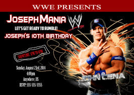 Wwe John Cena Birthday Invitations 8 99 Invitaciones De