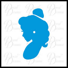 Belle Cameo Profile Beauty The Beast Inspired Fan Art Vinyl Car Lap Decal Drama