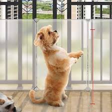 Mirui Dog Baffle Indoor Balcony Guardrail Isolated Gate Cat Fence Punch Free Plastic Easy To Install Pet Fence H 35cm Size 8 Piece Amazon Co Uk Kitchen Home