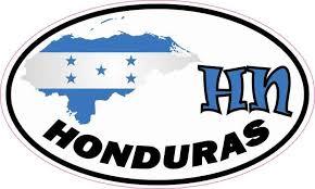 5in X 3in Oval Hn Honduras Sticker Vinyl Vehicle Decal Travel Hobby Vinyl Sticker Car Decals Honduras