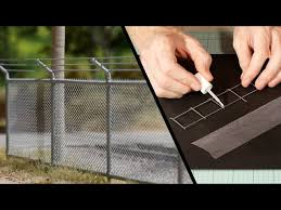 Chain Link Fence Model Railroad Scenery Youtube