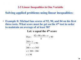 linear equation one variable word