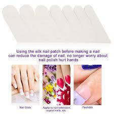 nail wrapping silk self adhesive