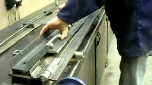 aluminum sheet metal brake air hydraulic