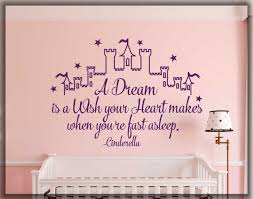 Cinderella Quote A Dream Is A Wish Your Heart Makes Wall Etsy