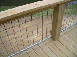 Goat Wire Fencing As Railings Google Search Deck Railing Diy Wire Deck Railing Diy Deck
