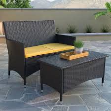 patio loveseat and coffee table set