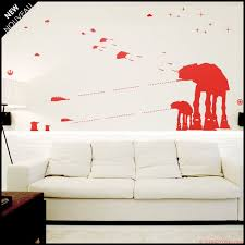 Star Wars Wall Decal At At Walker Silhouettes Standing With Etsy