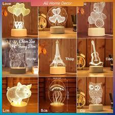 Đèn ngủ LED 3D trang trí Đơn sắc giá rẻ giảm chỉ còn 84,150 đ