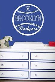 Amazon Com Creativewalldecals Wall Decal Vinyl Sticker Decals Art Decor Design Baseball Brooklin Dodgers Player Kids Room Children Game Sport Bedroom Nursery R664 Home Kitchen