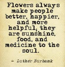 flowers always make people better happier and more helpful they