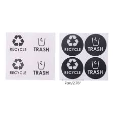 Recycle Trash Symbol Vinyl Lettering Decals Sticker For Trash Cans Garbage Container Home Decor Gift Qay Wish