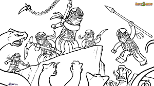 LEGO Ninjago Coloring Pages Ninjas VS Snakes - Get Coloring Pages