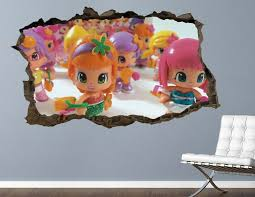 Pinypon Kids Wall Decal Custom Smashed 3d Kids Decal Sticker Art Vinyl Ah687 In 2020 Sticker Art Kids Wall Decals Kids Decals