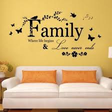 Shop Creative Family Wall Quote Words Decal Vinyl Sticker Mural Home Art Online From Best Other Interior Car Accessories On Jd Com Global Site Joybuy Com