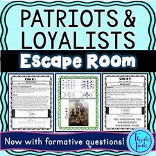 Patriots Loyalist Worksheets Teaching Resources Tpt