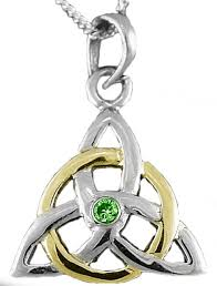 14k two tone gold solid silver emerald
