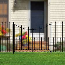 No Dig Grand Empire Steel Decorative Metal Fence Gate Ironcraft Lowes Gardenfence Diy Fenceinstall Nodi Metal Fence Gates Metal Fence Aluminum Fence