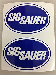 Amazon Com Sbd Decals 2 Sig Sauer Blue Oval Decals Various Sizes 3 Inch Automotive