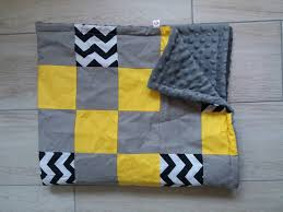 color block patchwork quilt grey minky