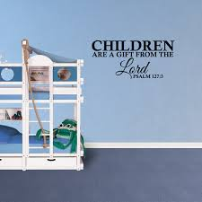 Wall Decal Quote Children Are A Gift From The Lord Psalm 127 3 Decor Bible Verse Vinyl Sticker Jp779 Walmart Com Walmart Com