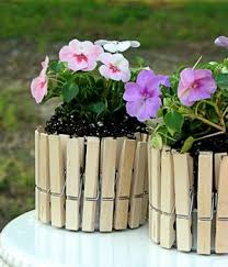 Mini Picket Fence Flower Pots Easy Spring Craft