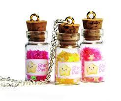 mini bottle charms cute stardust