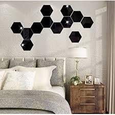 Amazon Com 7pcs 3d Mirror Hexagon Vinyl Removable Wall Sticker Decal Home Decor Art Diy 230200115mm Beauty