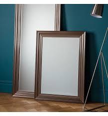 pewter framed wall mirror 81x110cm