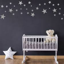 Pack Of 60 Star Wall Stickers Silver Gold And Other Colour Choices Ebay