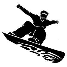 Snow Boarding Die Cut Vinyl Decal Pv2240 Pirate Vinyl Decals