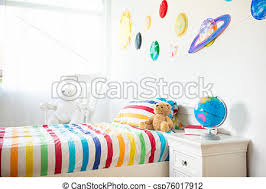Kids Room With Space Decoration Child Bedroom Kids Room With Space Decoration Child Bedroom Solar System Planet And
