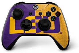 Ultra Thin Skinit Lsu Bold Split Xbox One X Controller Skin Officially Licensed College Gaming Decal
