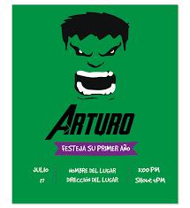 Invitacion Cumpleanos Hulk Invitaciones De Cumpleanos